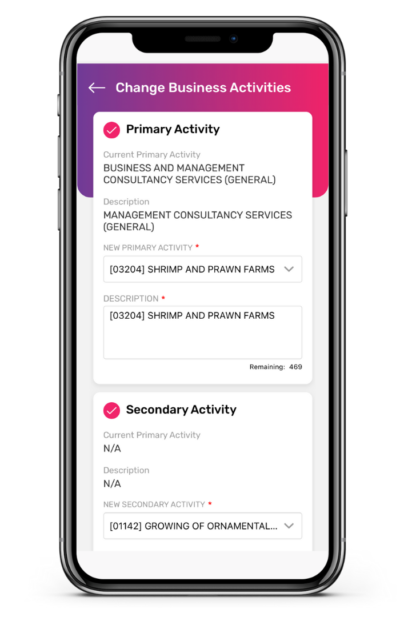 Change of Business Activities App Guide 4 400x617 1
